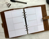 PRINTED - A5 Basic Neutral Grid WO2P - Extended Tasks, Notes and Tracking - Blank Headings for Your Own Use