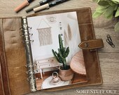 A5 Planner Dashboard - Protective Cover for Ring Planner Inserts - Interior Design - Cacti