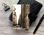 Pocket Size Planner Dashboard - Protective Cover for Ring Planner Inserts - New York Street