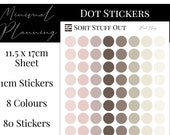 Pink Clay Neutrals Planner Dot Stickers - Colour Code your Planning. Minimal Planner Deco for All Planners. 80 Stickers on One Sheet