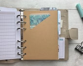 Pocket Folders - 12 Colours - Ring Planner Storage for Notes, Stickers etc - B6, Personal Wide, Personal, A6, Pocket and Mini Size