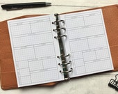 Daily Insert for Motivation & Wellbeing - Minimal Grid Printed Insert - Fits A5, B6, Personal Wide, Personal and A6 Ring Planners