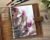 A5 Planner Dashboard - Protective Cover for Ring Planner Inserts - Magnolia Bud - Floral