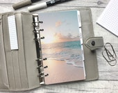 Personal Size Planner Dashboard - Protective Cover for your Ring Planner Inserts - Beach Sunset - Summer