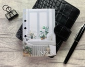 Pocket Size Planner Dashboard - Protective Cover for your Ring Planner Inserts - Window Inbox
