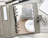 Personal Size Planner Dashboard - Protective Cover for your Ring Planner Inserts - Rug and Cushions - Neutral Aesthetic