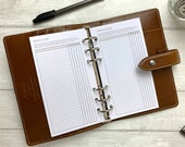 PRINTED - Brain Dump Planner Insert for Personal Size Rings. Neutral Minimal Grid Design. Schedule Tasks and Organise.