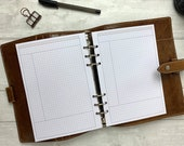 PRINTED - A5 Basic Neutral Grid - Cornell Notes - Meeting Notes for Work Planner - Productivity - Fits LV GM and Kikki K Large Ring Planners