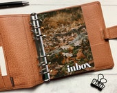 Autumn Leaves Inbox Dashboard - Fits A5, B6, Personal Wide, Personal, A6, Pocket, Mini Ring Planners. Protective Cover.