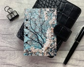 Pocket Size Planner Dashboard - Protective Cover for Ring Planner Inserts - Blue Sky Magnolia - Floral