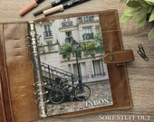 A5 Planner Dashboard - Protective Cover for Ring Planner Inserts - Paris Inbox