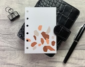 Pocket Size Planner Dashboard - Protective Cover for your Ring Planner Inserts - Burnt Orange Abstract