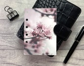 Pocket Size Planner Dashboard - Protective Cover for your Ring Planner Inserts - Close Up Cherry Blossom - Sakura