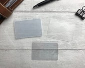 Blank Task Cards - With or Without Tabs for your Planner - Add Your Own Page Flags, or Add Task Stickers or Labels - Minimal and Functional