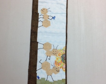 """2017 Row x Row kit, """"On the Go""""!  Ants Stop and Smell the Flowers. Pattern and Kit.  Quilting"""