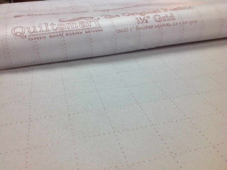 """Watercolor 2/"""" On Point Grid Fusible Printed Interfacing One Panel Off the Bolt"""