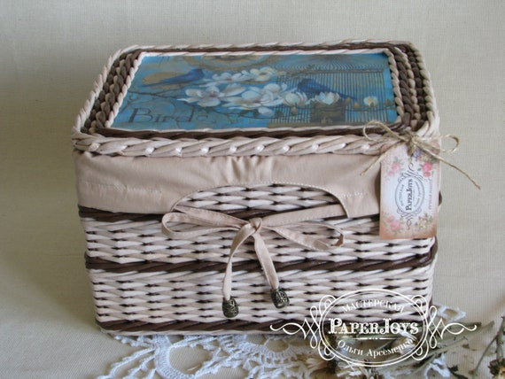 Wicker basket storage box Bedroom storage Storage basket Weawing box Wicker  basket Bedroom organizer Box Kids gift