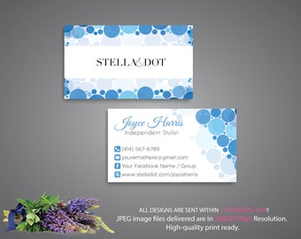 Stella and dot business cards etsy stella and dot business card custom stella and dot business card personalized cards colourmoves