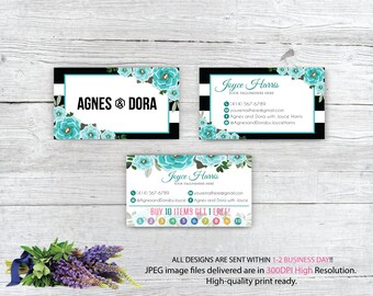 Agnes and Dora Business Card, Custom Agnes and Dora Punch Card, Custom Business Card, Printable Business Card AG87
