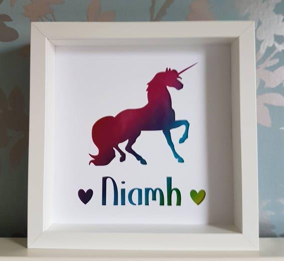 Unicorn frame unicorn personalised frame girls gift | Etsy