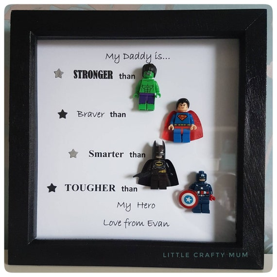Personalised Superhero frame daddy frame fathers day gift | Etsy