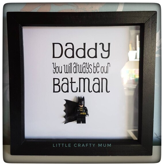 Superhero frame daddy frame Christmas gift father\'s | Etsy