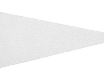 Solid 12 White Felt Blank Pennant Flag Assorted sizes and Prices   See Description