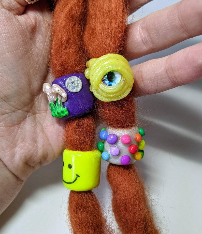 Nice Trip Bead Set Dreadlock Beads