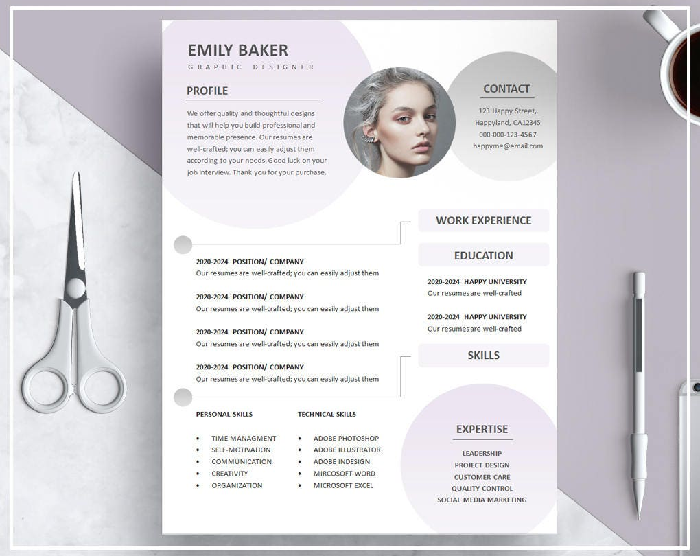purple resume template   purple cv template   gradient