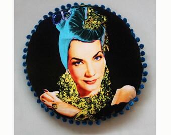 Carmen - Luxury Velvet Cushion Turquoise Turban