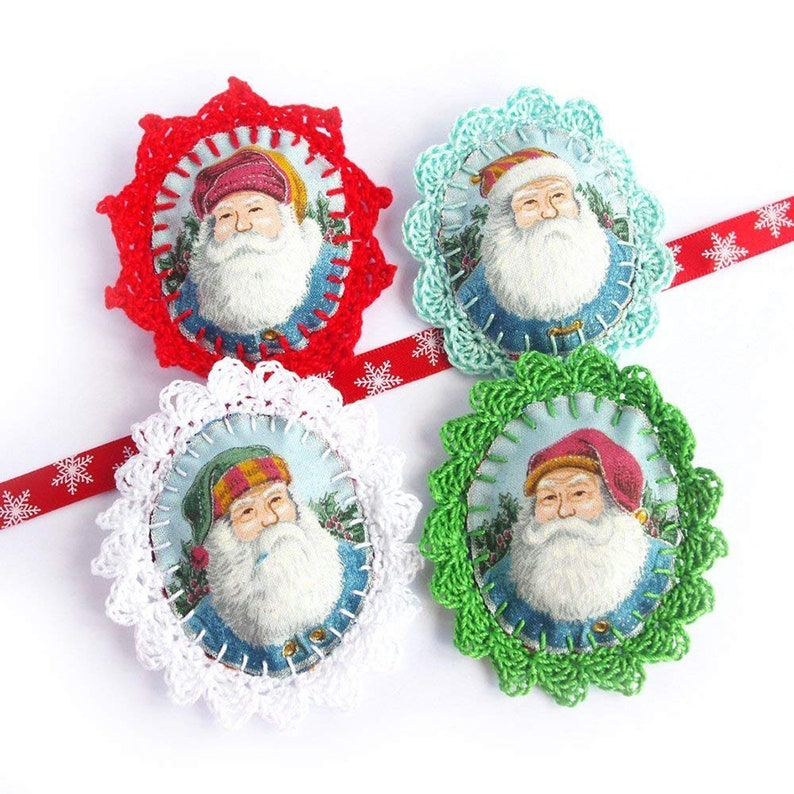Christmas jewelry for women  Santa Claus brooch  Xmas eve image 0