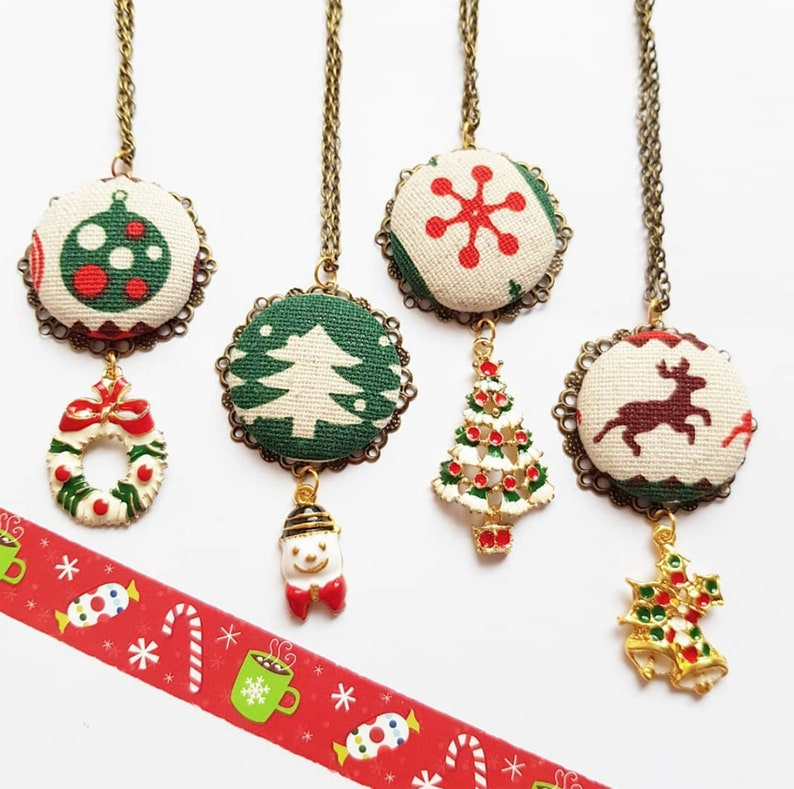 christmas necklace for woman  Secret Santa gift Ugly sweater image 0