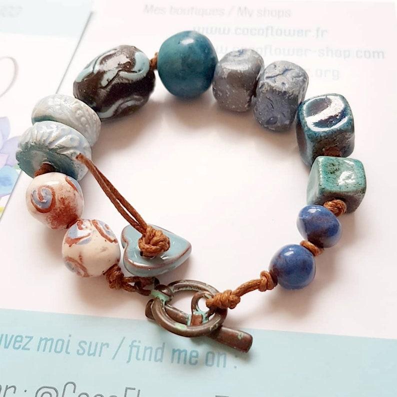 Beach Blue bracelet Nautical Marin Ocean Artisan  large image 0