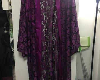 Purple sheer cardigan
