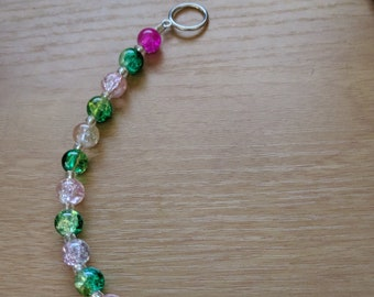 Pink & Green!  Lovely crackle beads in soft colors.