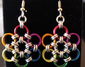 Rainbow pride earrings!
