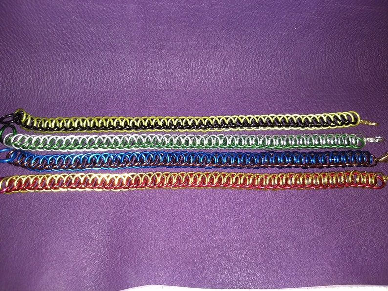 Hogwarts House Inspired Half Persian Chainmail Bracelets image 0