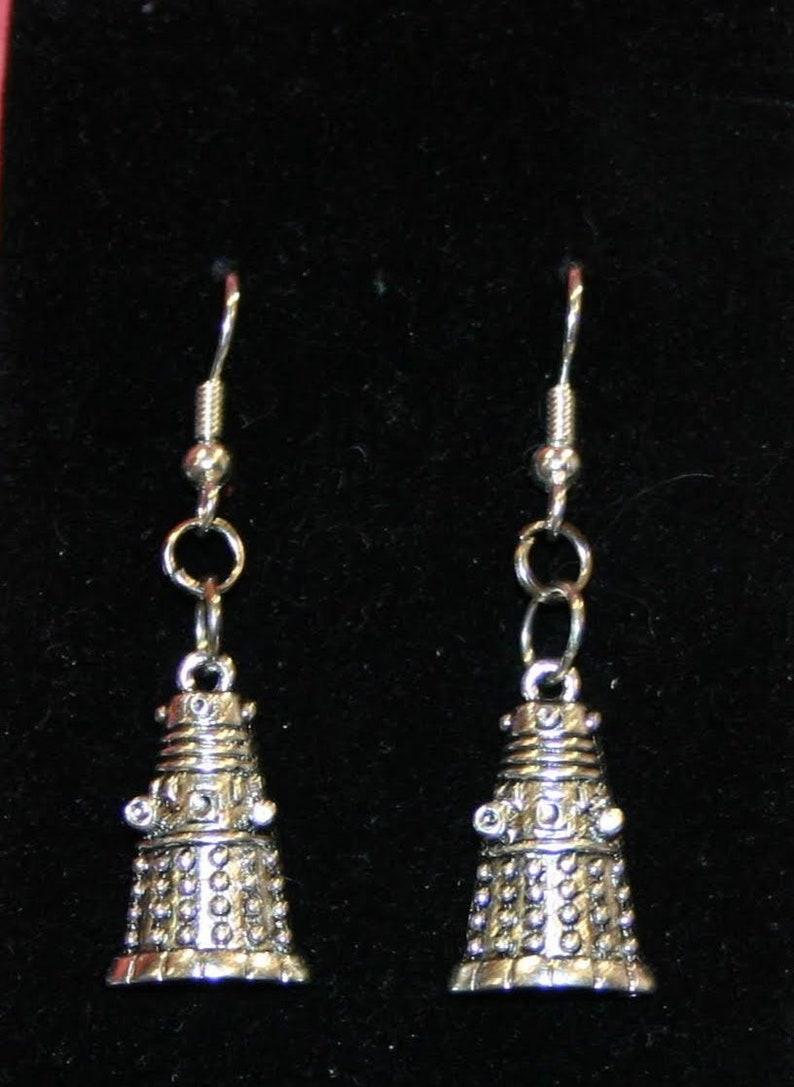 Exterminate  Exterminate  Bad Robot earrings Dalek image 0