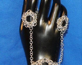 Double ring hand chain