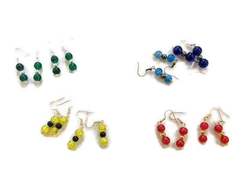 Hogwarts House inspired beaded earrings image 0