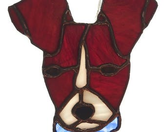 Jack Russell/Rat Terrier Stained Glass