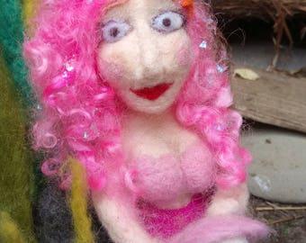 Ooak  Needle Felt Art Mermaid Sculpture character