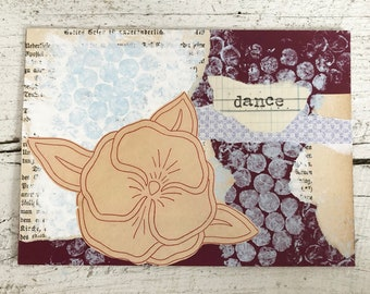 Original Collage on Mat Board - Dance