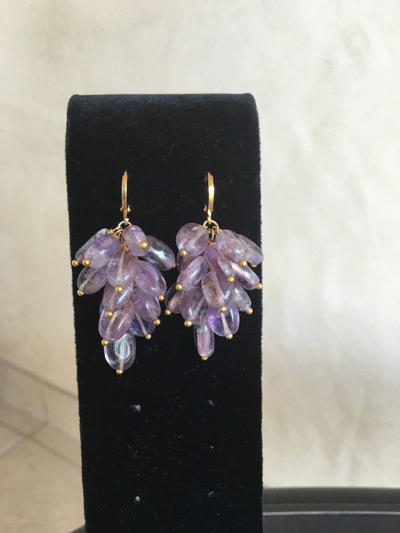 Amethyst Earrings by Dobka