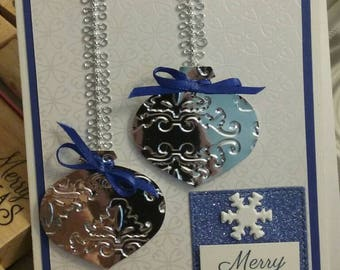 Silver ornament Christmas cards