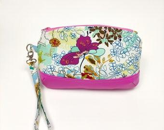 Evening clutch, zipper pouch, zipper bag, zipper clutch