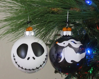 jack skellington ornaments zero ornament halloween decor ornaments nightmare before christmas ornament set - Jack Skeleton Christmas Decorations