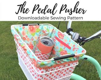 SEWING PATTERN The Pedal Pusher Bike Basket Liner PDF Digital Download