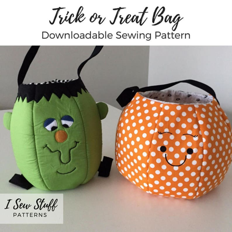 SEWING PATTERN Trick or Treat Bag PDF Digital Download image 0