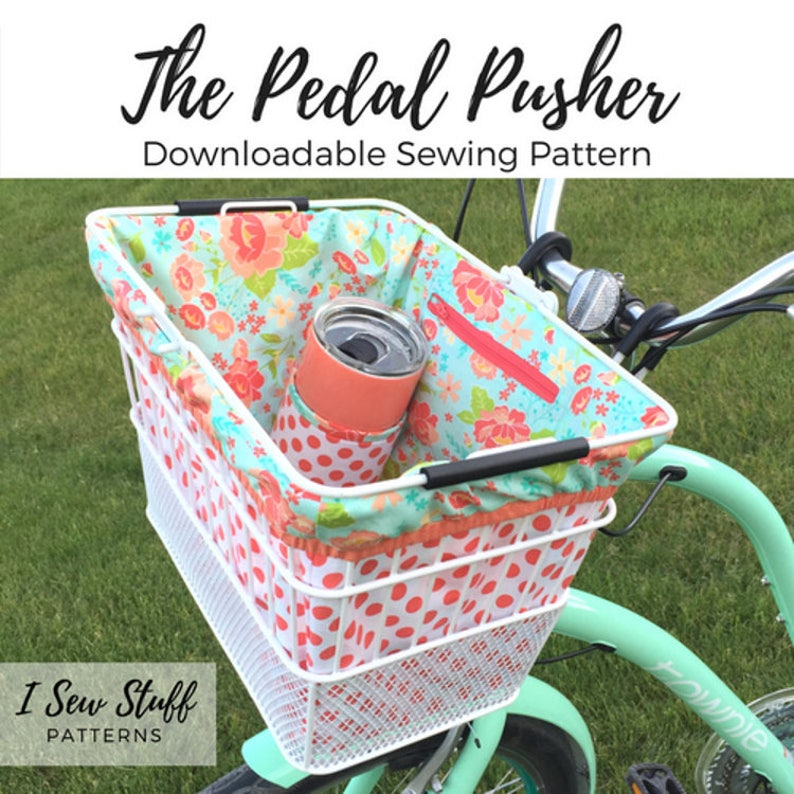 SEWING PATTERN The Pedal Pusher Bike Basket Liner PDF Digital image 0